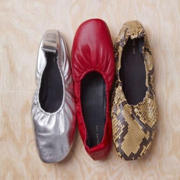 04267daeab9 CÉLINE Nappa Soft Ballerina Flats Alizarin (Red)